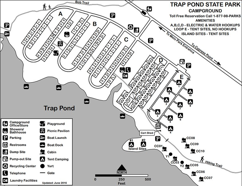 Trap Pond State Park (Campground Map)