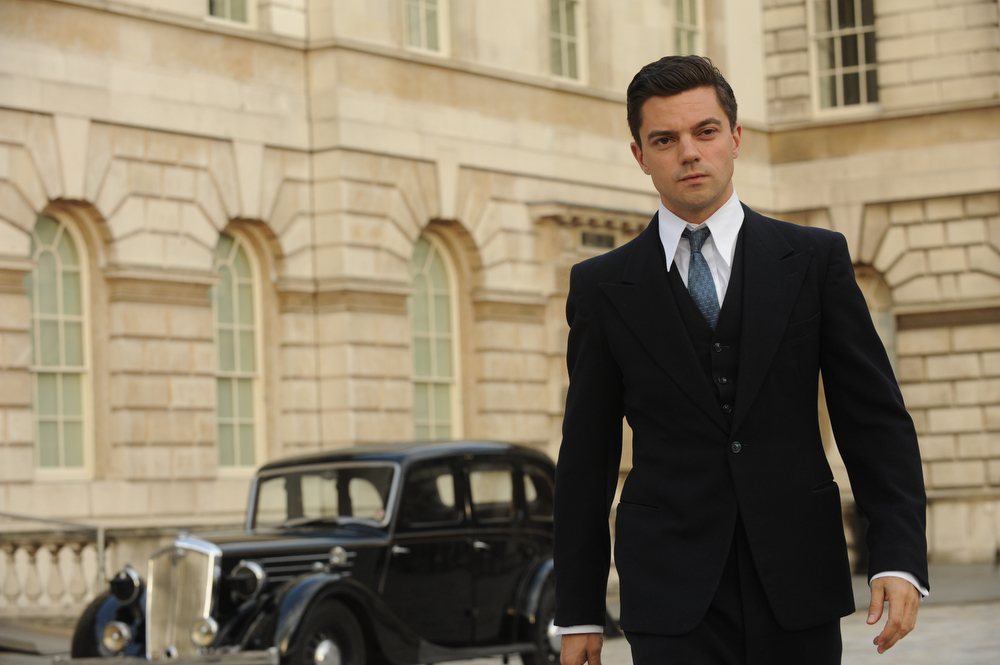 . Dominic Cooper as Ian Fleming. (Photo by Liam Daniel)