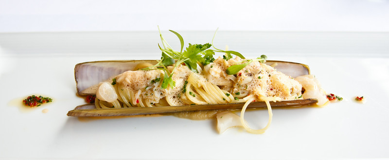 Razor Clams, Spaghettini, Hand Picked Local Mud Crab, Chilli & Lemon Beurre Noisette