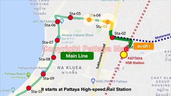Pattaya Monorail mainline