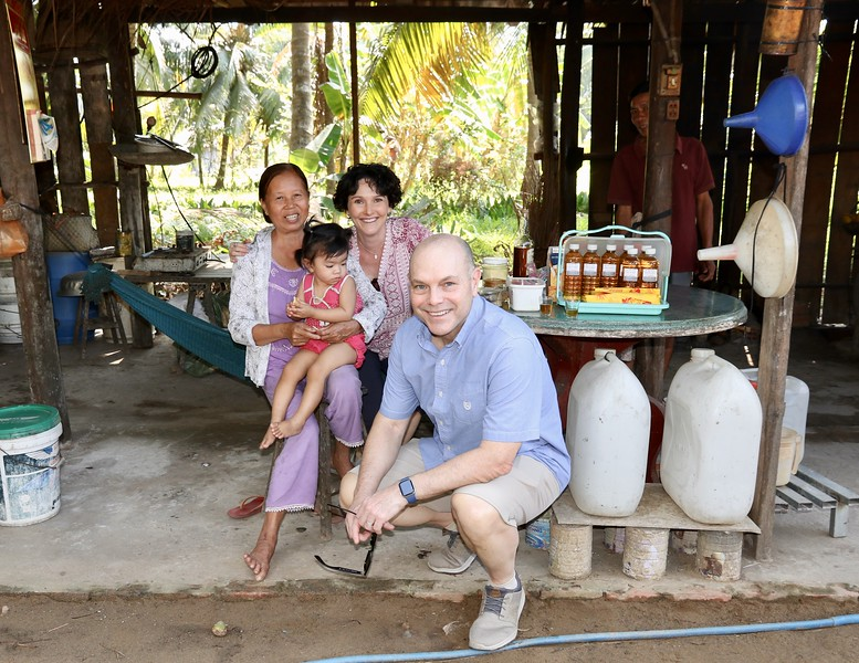 Here's the family that shared their rice wine process with us.