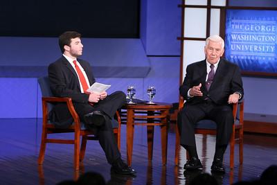 Senator Lugar speaks at SMPA