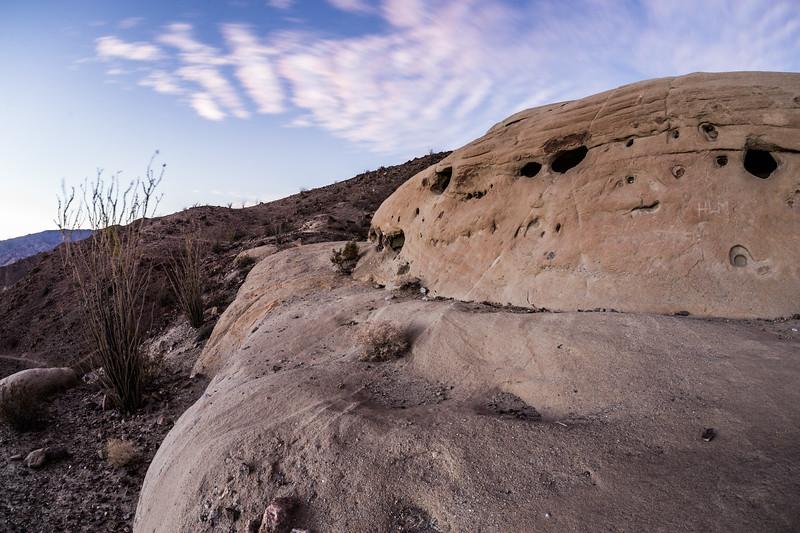 Spaceship: Anza-Borrego Desert Wind Caves. Take 2.