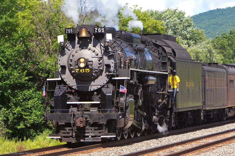 Nickel Plate 765 travelling through New York's Southern Tier - August 1, 2015