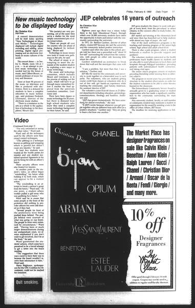 Daily Trojan, Vol. 111, No. 21, February 09, 1990