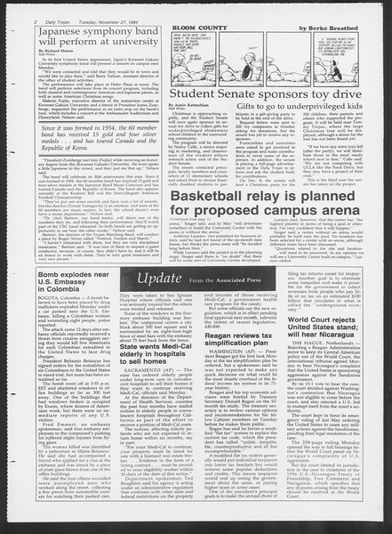 Daily Trojan, Vol. 97, No. 57, November 27, 1984