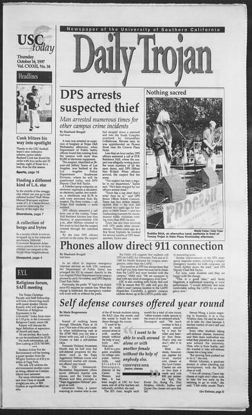 Daily Trojan, Vol. 132, No. 34, October 16, 1997