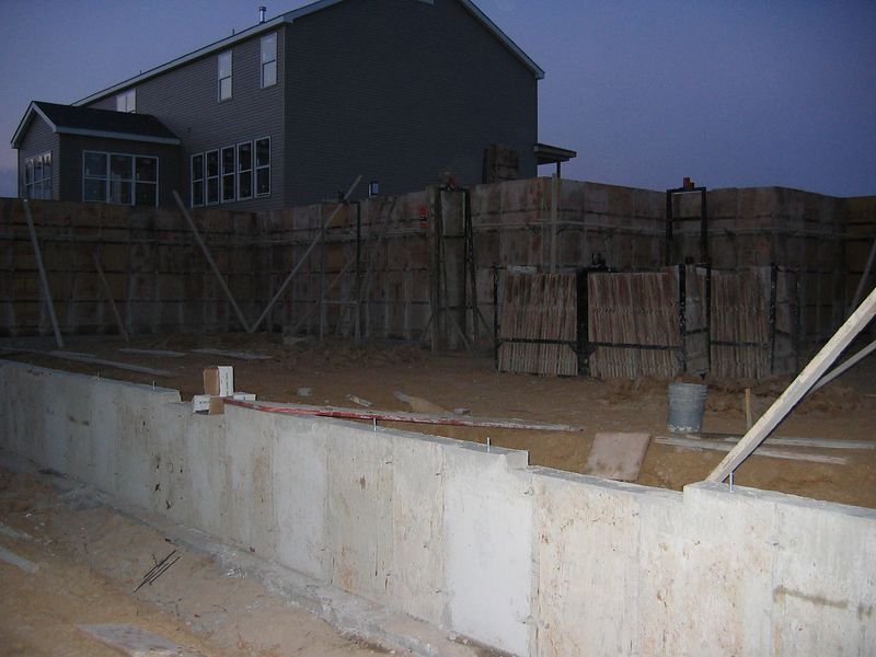 Rear View of the Foundation Forms