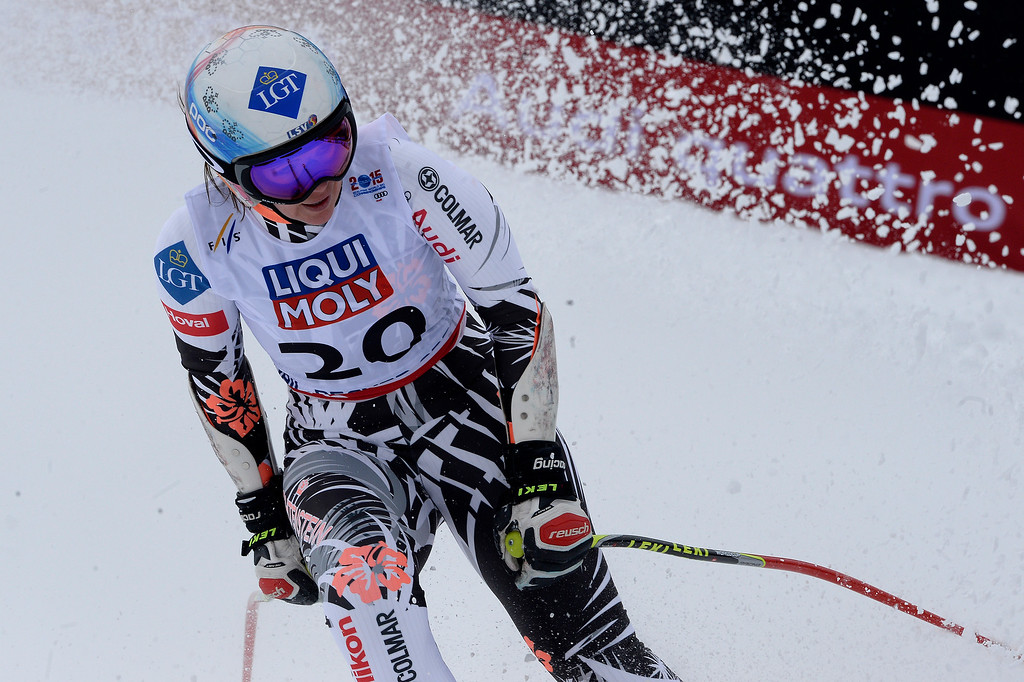 . BEAVER CREEK, CO - FEBRUARY 03: Tina Weirather of Liechtenstein competes during the the ladies\' super-G finals. FIS Alpine World Ski Championships 2015 on Tuesday, February 3, 2015. (Photo by AAron Ontiveroz/The Denver Post)
