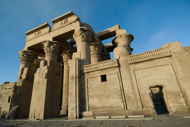 Pillars and walls of the Temple of Kom Ombo - Komombo, Egypt