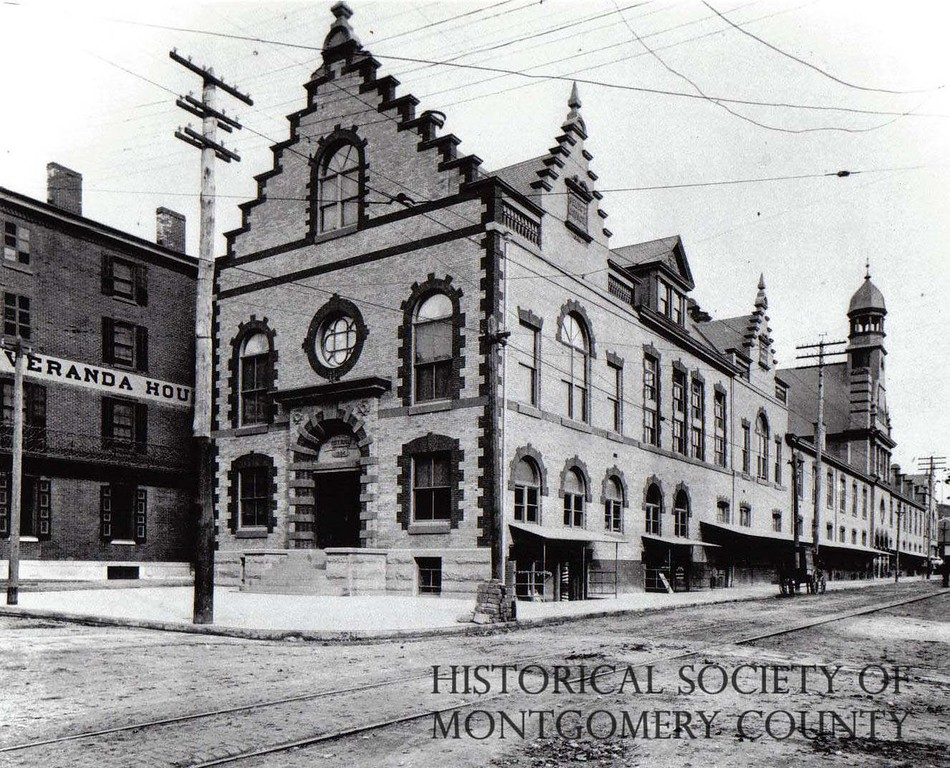 . This photograph from the Historical Society of Montgomery County shows City Hall in Norristown in 1896.