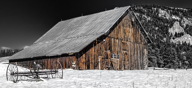 Winter at Meyers Barn,  panorama size