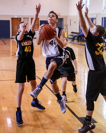 Feb 21 - BBall - 7th Gr Boys Blue vs St Joseph