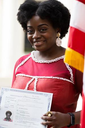 Feb. 10, 2021 Sahndra Fon Dufe Citizenship Ceremony