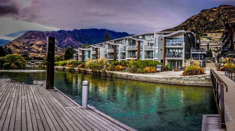A view of my Hotel room at the Queenstown Hilton.   Great place to stay when in Queenstown.