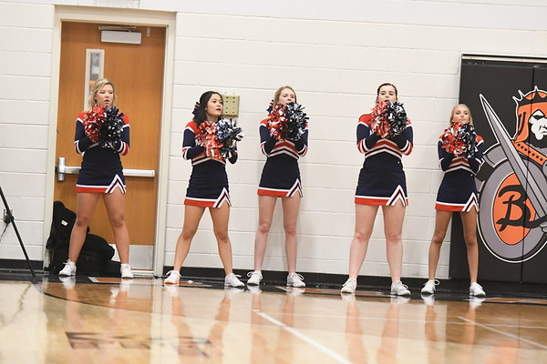 Cheerleaders - Beatrice Basketball game