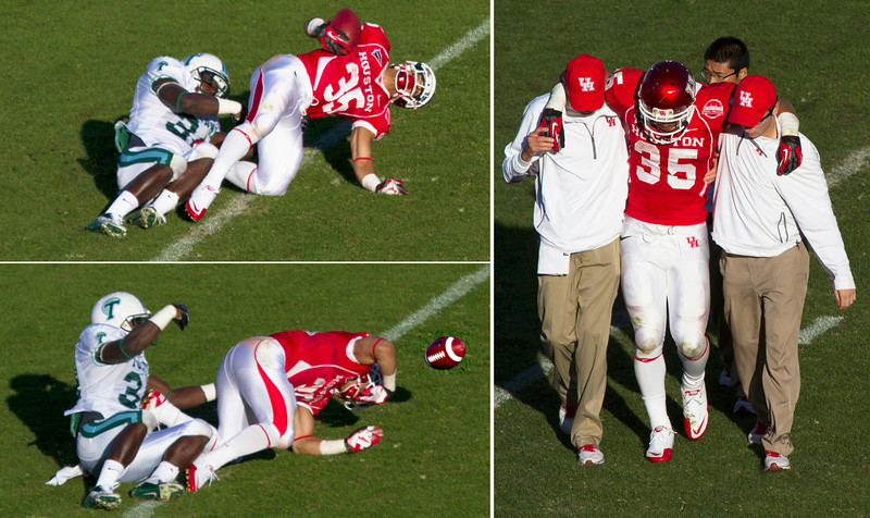 Farrow tackled and hurt