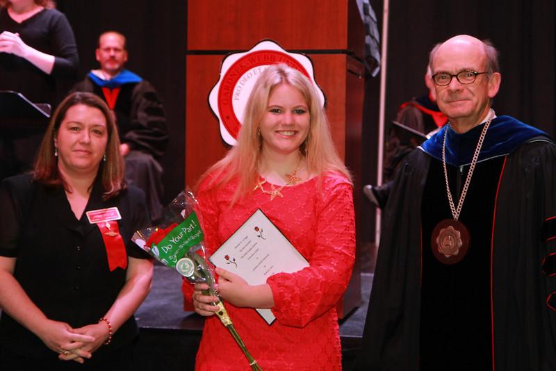 59th Academic Awards Day; Spring 2014.Delta Kappa Gamma Society International Award: Bonnie Elizabeth Scruggs