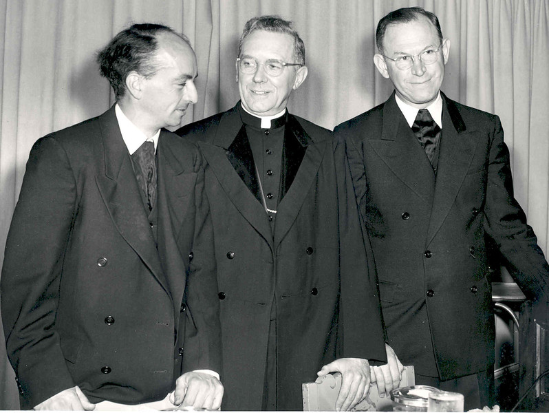 1948 Jubilee The Big 3 (Br. Alfred, Cardinal, Br. Cyril).jpg