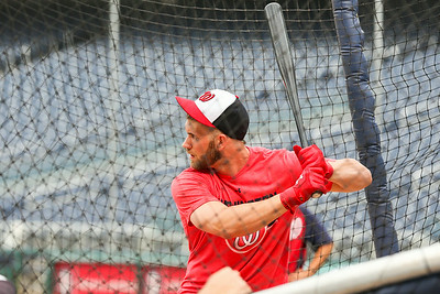 Washington Nationals batting practice