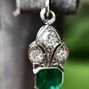 2.00ctw+ Emerald and Diamond Art Deco Conversion Earrings 16