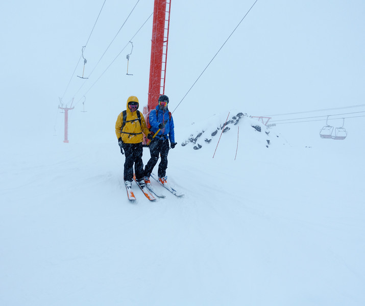 Ron and Philippe on the T-bar. Day 3