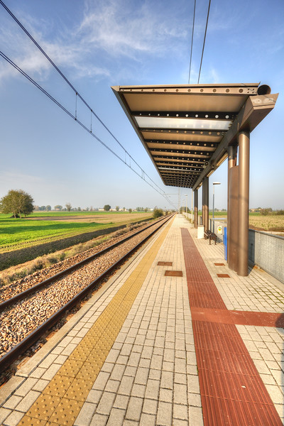 Train Station - Pratofontana , Reggio Emilia, Italy - October 20, 2012