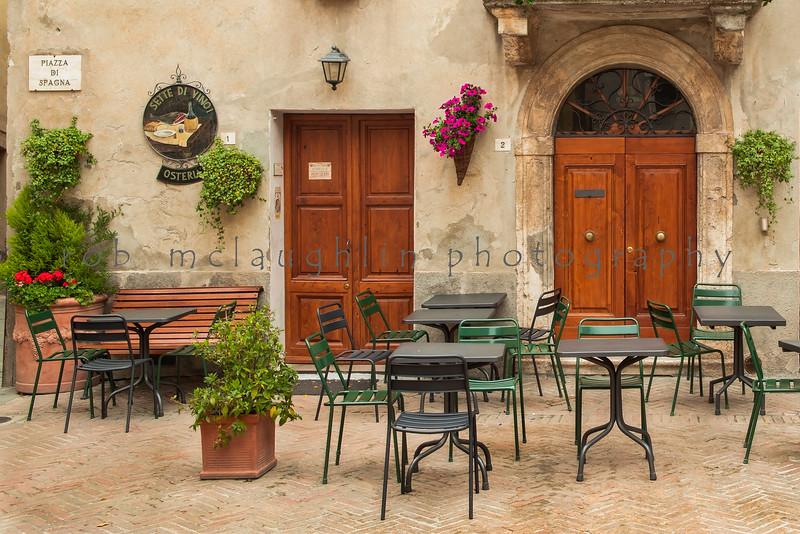 Piazza di Spagna , Pienza Tuscany