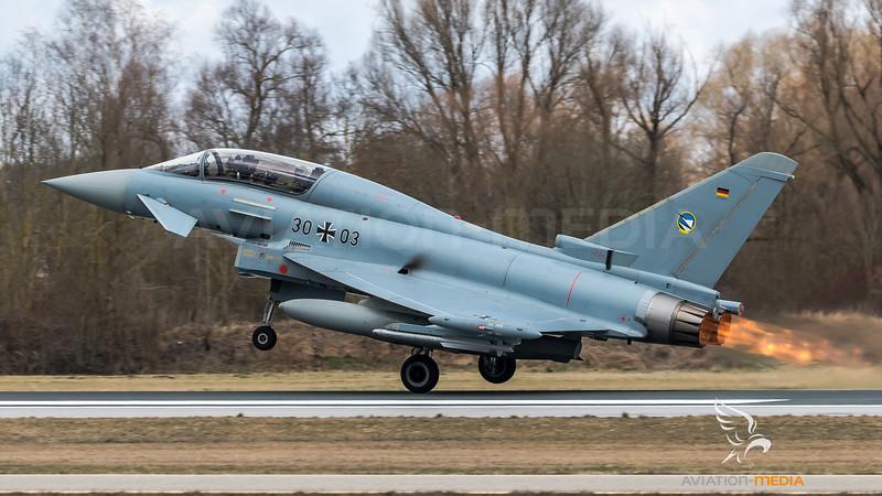 German Air Force TLG74 / Eurofighter Typhoon / 30+03