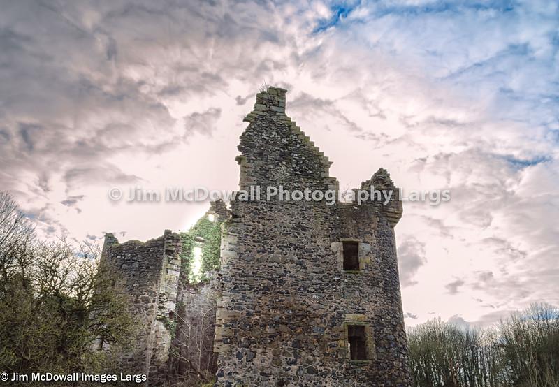 Ancient Ruins Old Auchens House Castle