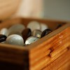 Wooden Hinged Box of Marbles