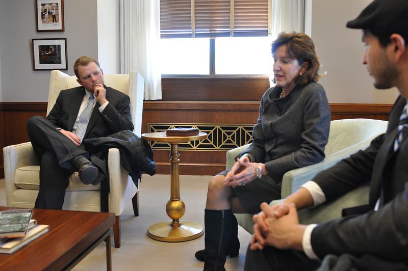 Tyler Sain, NC Senator Kay Hagan & Bradley Bilsback
