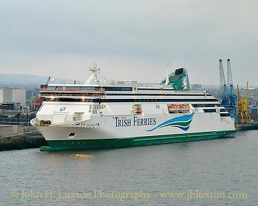 Irish Ferries Ulysses Maiden Voyage - March 25, 2001