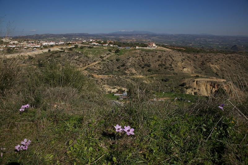 Panoramic view towards Mount Olympus