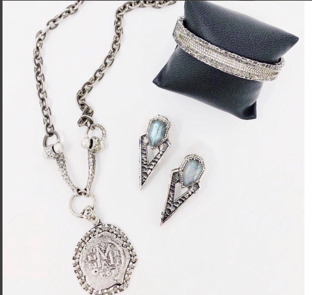 Silver with Stones and Crystals, Gorgeous!