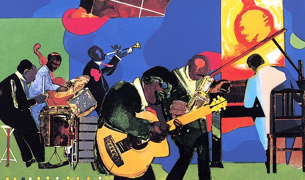 "Romare Bearden, ""Jammin' at the Savoy"""