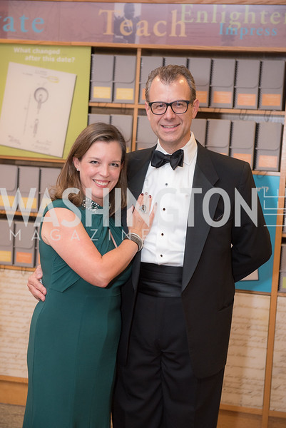 William Minor, Christine Enemark,  National Archives Foundation, Records of Achievement Gala, Honoring First Lady Laura Bush.  October 10, 2018.  Photo by Ben Droz.