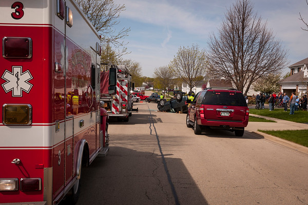 South Elgin Vehicle Rollover - April 7, 2012