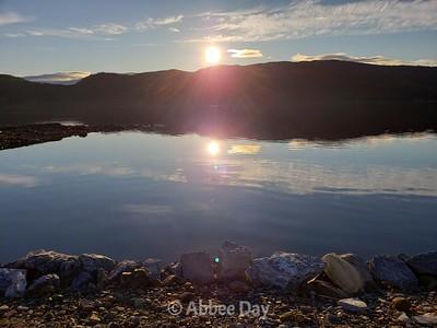 Sunrise over West Arm