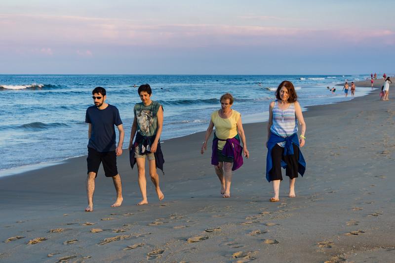 Ben, Daphne, Donna and Karen on Evening Beach Walk