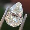 2.61ct Antique Pear Cut Diamond GIA I SI1 10