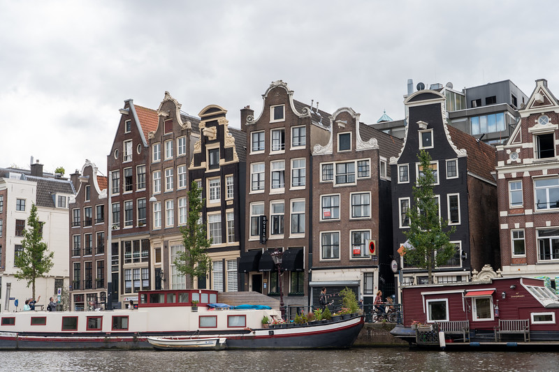 Crooked houses in Amsterdam