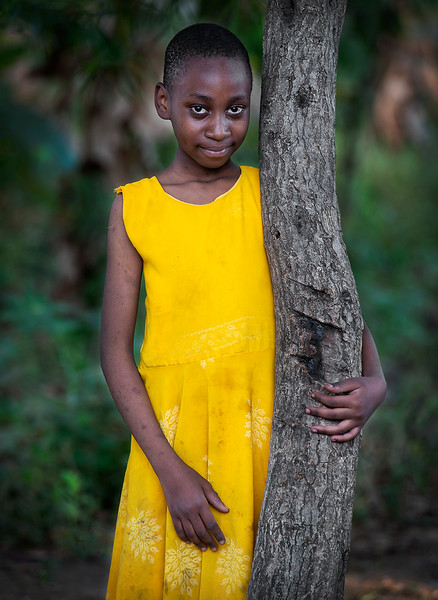 Young girl from the town of Mto wa Mbu.  Tanzania, 2019