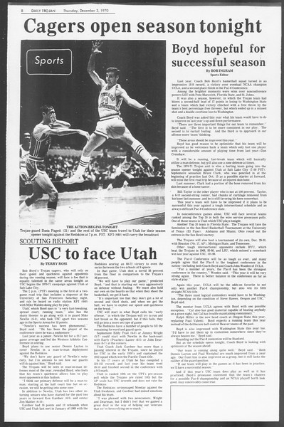 Daily Trojan, Vol. 62, No. 47, December 03, 1970