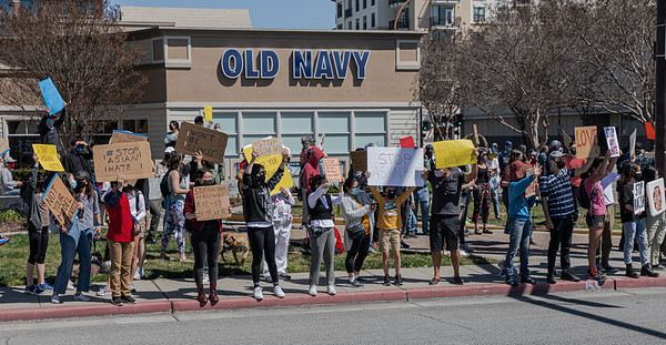 27 March 2021 Stand Up and Stop Violence Against Asian Americans Rally -Redwood City