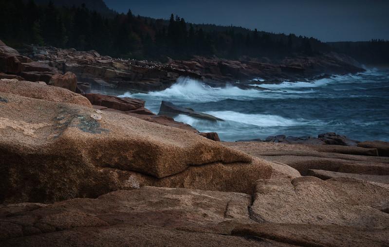 Stormy coast of Maine