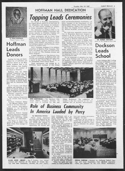 Daily Trojan, Vol. 58, No. 123, May 16, 1967