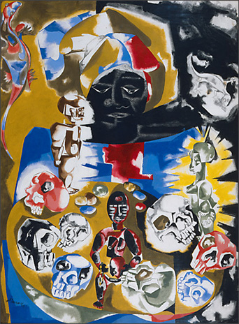 "Jacob Lawrence, ""Antiquities,"" (1964)"