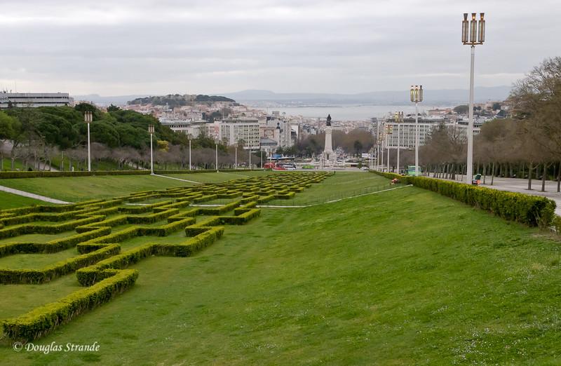 Thur 3/17 in Lisbon: Looking across Lisbon to the Tagus River