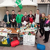 Pictured during a sleep out to raise awareness of homelessness in the area are, David McAvoy, Mark McLoughlin, John McCaul, Eugene Tinnelly, Daire Hughes, NIamh Fearon and Cllr Roisin Mulgrew. R1533002